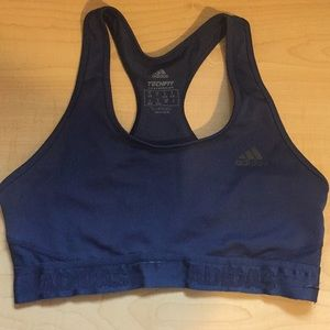 Adidas techfit navy sports bra